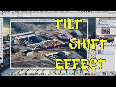 Creare foto con effetto Tilt-Shift (miniatura). Photoshop [HD Video]