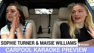 SNEAK PEEK: Sophie Turner and Maisie Williams Carpool Karaoke! - HOLLYWIRETV
