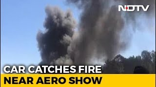 Nearly 20 Cars Gutted In Fire At Parking Lot Of Bengaluru Aero Show - NDTV