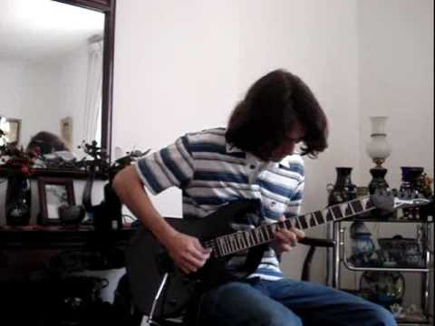 Guitar solo on Dimarzio evolution bridge pickup dp159 Ibanez rg 170