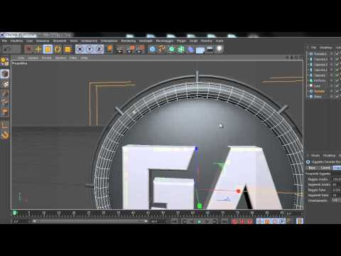 Cinema 4D Tutorial ::Orb/Logo Creation:: GATutorial