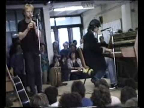 The Waterboys' Mike Scott plays The Whole Of The Moon to school assembly in 1987-amazing!