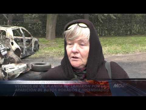 Vecinos de Villa Anita reclamaron por la aparición de autos robados e incendiados