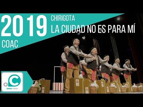 La agrupación La ciudad no es para mí llega al COAC 2019 en la modalidad de Chirigotas. En años anteriores (2018) concursaron en el Teatro Falla como Los jubilados del Soto del relax, consiguiendo una clasificación en el concurso de Preliminares.