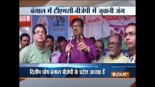 TMC, BJP spar over Dilip Ghosh's statement on Mamata Banerjee - INDIATV