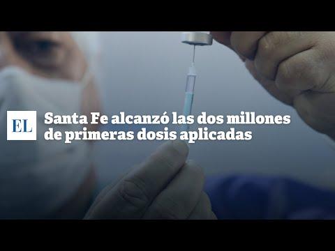"""SANTA FE ALCANZÃ"""" LAS DOS MILLONES DE PRIMERAS DOSIS APLICADAS"""