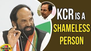PCC Chief Uttam Kumar Reddy Controversial Comments on CM KCR | Mango News - MANGONEWS