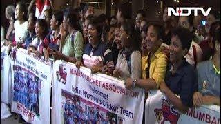 Indian Women's Cricket Team Back In Mumbai - NDTV