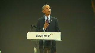 Former President Obama speaks at Gates Foundation event - ABCNEWS