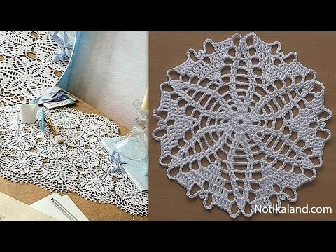 CROCHET doily Tutorial Pattern Crochet Motif How to crochet doily Part 7 Border 3 5 round