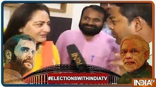 Lok Sabha Elections 2019: Rampur में Jaya Prada ने कहा, Azam Khan को गरीबों के आंसुओं का श्राप लगेगा - INDIATV