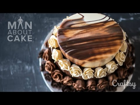 Epic Triple Chocolate Rose Cake | Man About Cake Quick Cake Decorating