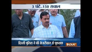Police quiz Delhi CM Kejriwal for over 3 hours in CS Anshu Prakash assault case - INDIATV