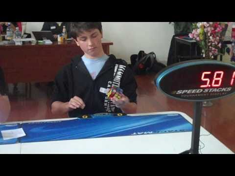 Rubik's cube one handed world record: 11.16 seconds