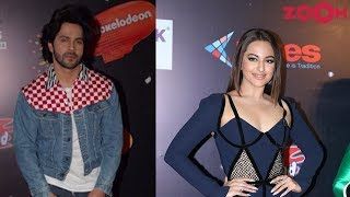 Varun Dhawan with denim jacket | Sonakshi Sinha with thigh-high slit gown & more | Style Today - ZOOMDEKHO
