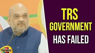 Amit Shah Claimed That TRS Government Has Failed At Every Front Be It Law And Order Or Development - MANGONEWS