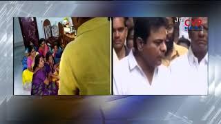 శరత్ తల్లిదండ్రులను ఓదార్చిన కేటీఆర్. | Minister KTR speaks over Telugu student death in America - CVRNEWSOFFICIAL