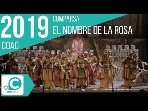 Sesión de Preliminares, la agrupación El nombre de la rosa actúa hoy en la modalidad de Comparsas.