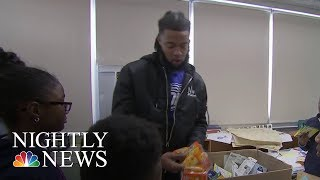 NFL Player-Turned-Teacher Aaron Maybin Helps Students During Baltimore Winter | NBC Nightly News - NBCNEWS
