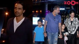 Sanjay Dutt With Family & Arjun Rampal In A Cool Look Spotted In Mumbai - ZOOMDEKHO