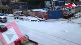 اتفرج ..الثلوج تكسو شوارع إسكندرية