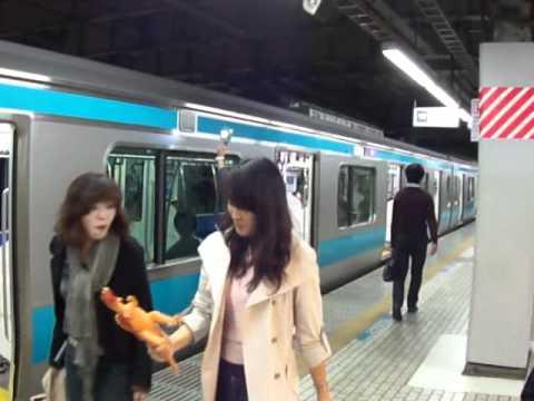 【客終合図】JR京浜東北線品川駅3番線 合図灯による乗降終了合図 - يوتيوبات