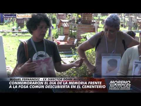 Conmemoraron el Día de la Memoria frente a la fosa común descubierta en el cementerio