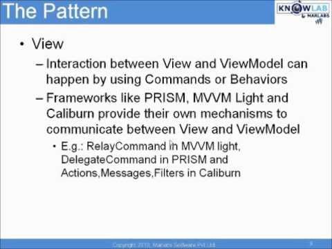 Introduction to Model-View-View-Model (MVVM) Pattern