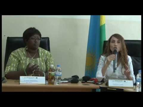 Dr. Agnes Binagwaho (MoH) & Tzameret Fuerst - Press Conference in Rwanda