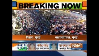 Mumbai: Protesters block local train demanding action against Pakistan - INDIATV