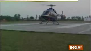 High profile wedding of Punjab, groom comes on Helicopter - INDIATV