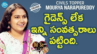Civils Topper Mourya Narapureddy (100th Rank) Exclusive Interview || Dil Se With Anjali #64 - IDREAMMOVIES