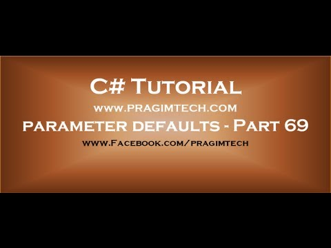 Part 70  Making method parameters optional by using OptionalAttribute