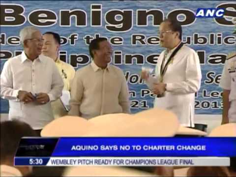 Aquino says no to charter change