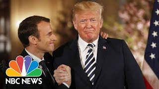How The Trump-Macron 'Bromance' Blossomed At This State Visit | NBC News - NBCNEWS