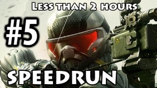 Crysis 3 - Speedrun Part 5 - Red Star Rising [Commentary] [Less than 2h]