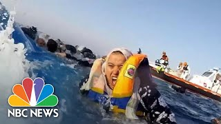 Rescuers Save Dozens After Boat Capsizes In Mediterranean Sea | NBC News - NBCNEWS
