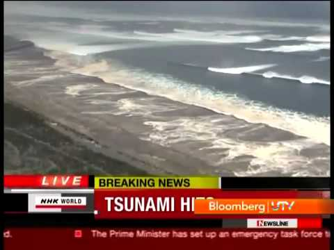 Japan Tsunami Wall of Water