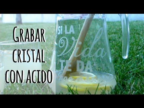 Cómo grabar cristal con ácido - Personaliza tu vasos o jarras