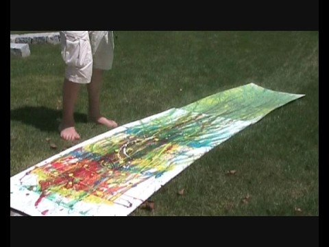 Painting with Skateboards by Nacked People