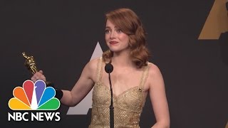 Emma Stone On 'Moonlight' Announce: 'Is That The Craziest Oscar Moment Of All Time?' | NBC News - NBCNEWS