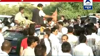 Nitin Gadkari arrives in Nagpur l Receives arousing welcome at airport - ABPNEWSTV