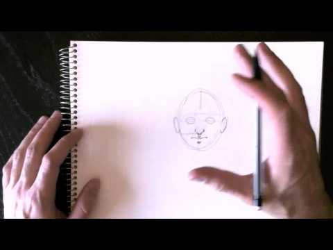 Drawing a face with Paolo Morrone