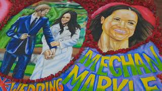 19 May, 2018 -  Art students in Mumbai create murals to mark the royal wedding - ANIINDIAFILE