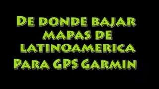 Mapas Garmin Latinoamerica – De donde bajarlos
