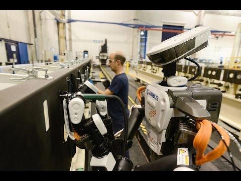 Airbus Futurassy plane-assembling robot
