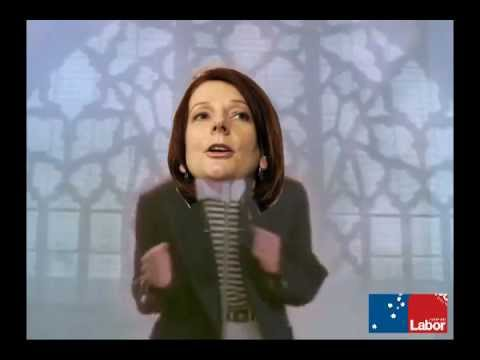 Julia Gillard SEXY Dance with Rudd & Bob Brown at Earthquake site