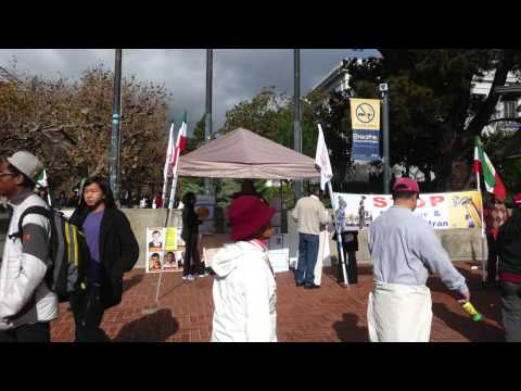 Nov. 22, 2014 - Iranian Americans Rally in Berkeley, against #HumanRights violations in #Iran