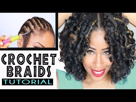 How To: CROCHET BRAIDS w/ MARLEY HAIR ! (ORIGINAL no-rod technique!)