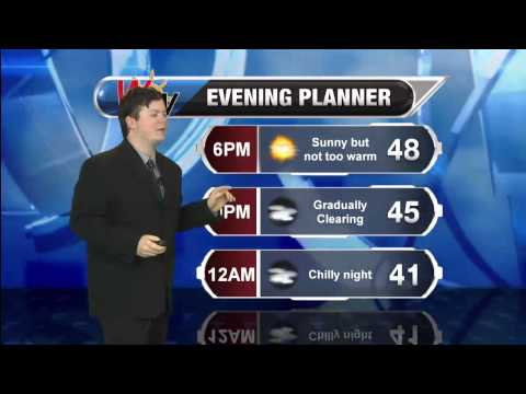 Sunday, April 20th Afternoon Forecast